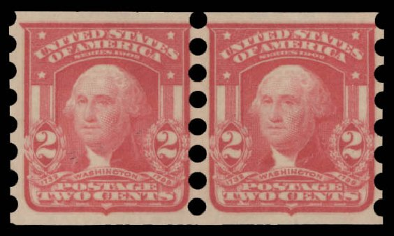 US Stamps Value Scott Catalogue 320 - 2c 1906 Washington Imperf. Daniel Kelleher Auctions, Aug 2015, Sale 672, Lot 2637