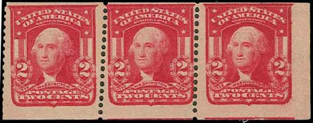 US Stamp Price Scott Catalogue 320: 1906 2c Washington Imperf. H.R. Harmer, Nov 2013, Sale 3004, Lot 1228