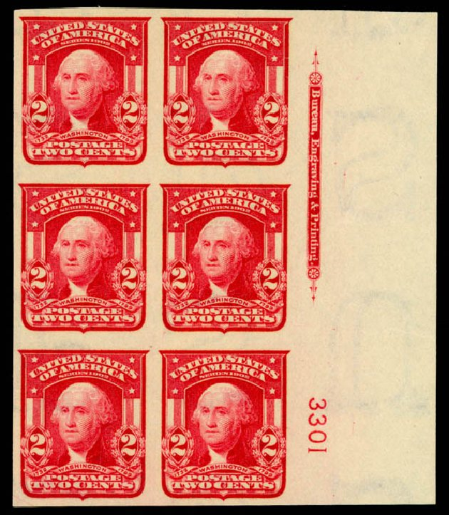 Costs of US Stamps Scott Catalogue # 320 - 1906 2c Washington Imperf. Daniel Kelleher Auctions, Sep 2014, Sale 655, Lot 630