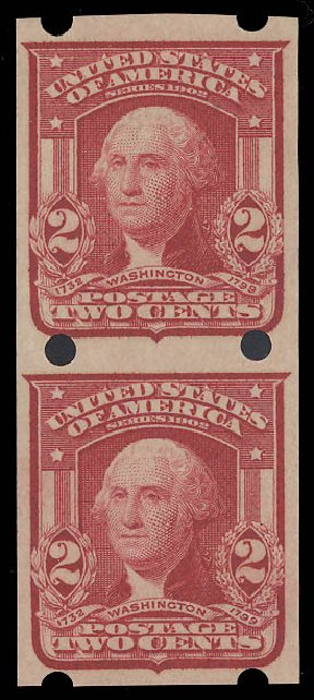 US Stamp Prices Scott Catalogue 320 - 2c 1906 Washington Imperf. Daniel Kelleher Auctions, Aug 2015, Sale 672, Lot 2634
