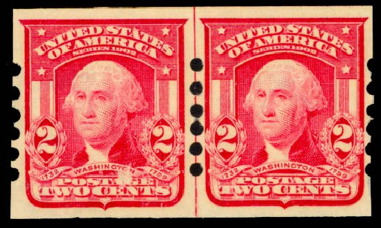 Cost of US Stamps Scott Catalogue 320 - 2c 1906 Washington Imperf. Daniel Kelleher Auctions, May 2014, Sale 652, Lot 485