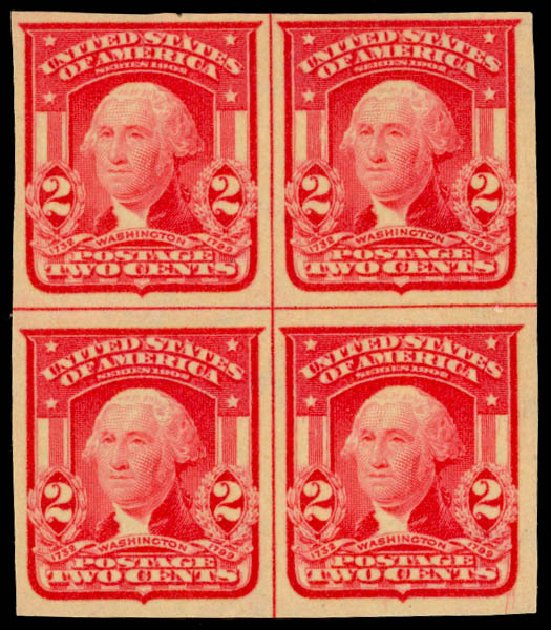 Value of US Stamp Scott # 320 - 2c 1906 Washington Imperf. Daniel Kelleher Auctions, Sep 2014, Sale 655, Lot 395