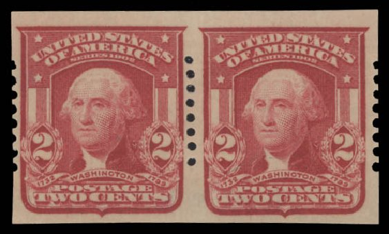 Costs of US Stamp Scott Catalog 320 - 1906 2c Washington Imperf. Daniel Kelleher Auctions, Aug 2015, Sale 672, Lot 2635