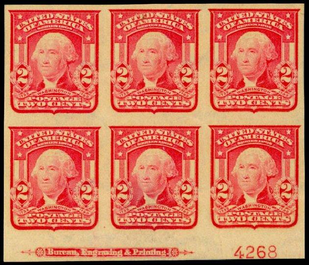 Value of US Stamps Scott Cat. # 320 - 1906 2c Washington Imperf. Daniel Kelleher Auctions, Mar 2013, Sale 635, Lot 432