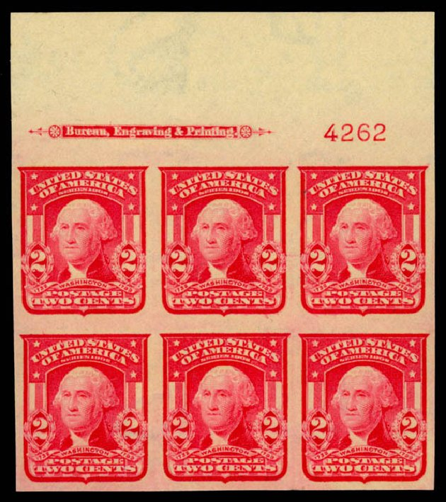 Costs of US Stamps Scott # 320 - 2c 1906 Washington Imperf. Daniel Kelleher Auctions, May 2014, Sale 653, Lot 2402