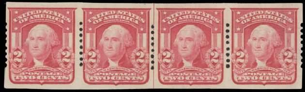 US Stamp Value Scott Cat. 320 - 2c 1906 Washington Imperf. Daniel Kelleher Auctions, Aug 2015, Sale 672, Lot 2632