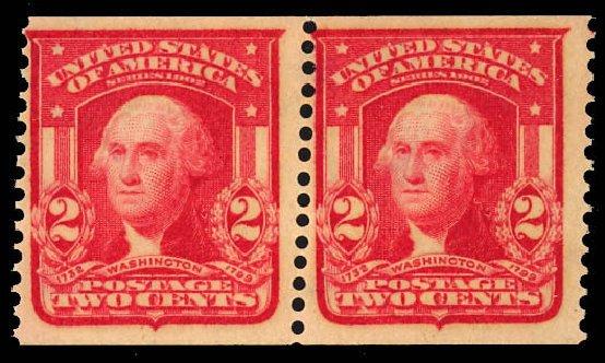 Price of US Stamps Scott Cat. #320: 2c 1906 Washington Imperf. Daniel Kelleher Auctions, Dec 2012, Sale 633, Lot 573