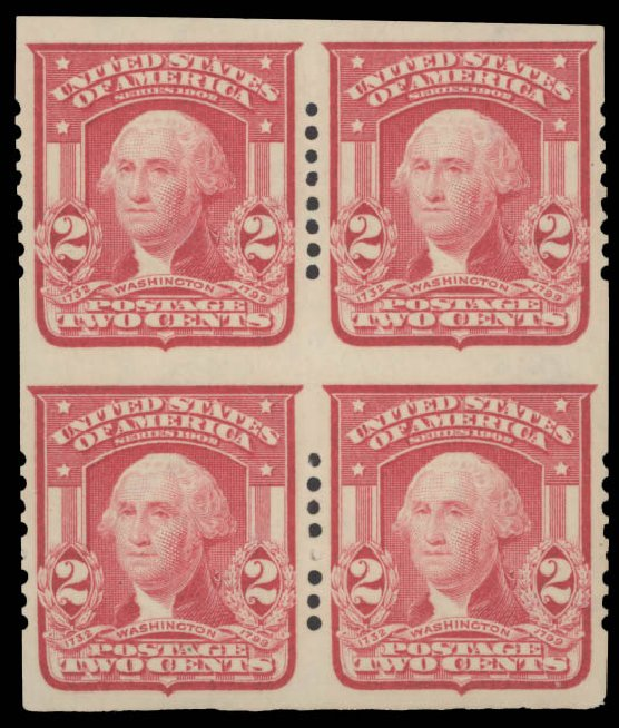 US Stamps Price Scott Catalogue #320 - 2c 1906 Washington Imperf. Daniel Kelleher Auctions, Aug 2015, Sale 672, Lot 2633
