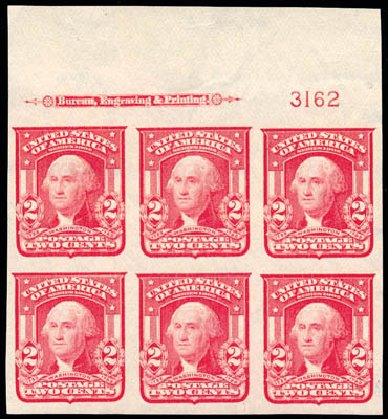 US Stamp Prices Scott Catalogue # 320 - 2c 1906 Washington Imperf. Schuyler J. Rumsey Philatelic Auctions, Apr 2015, Sale 60, Lot 2903