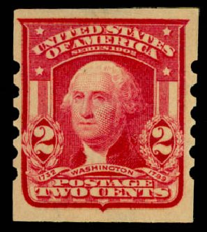 Value of US Stamp Scott Catalog #320: 2c 1906 Washington Imperf. Daniel Kelleher Auctions, May 2014, Sale 652, Lot 486
