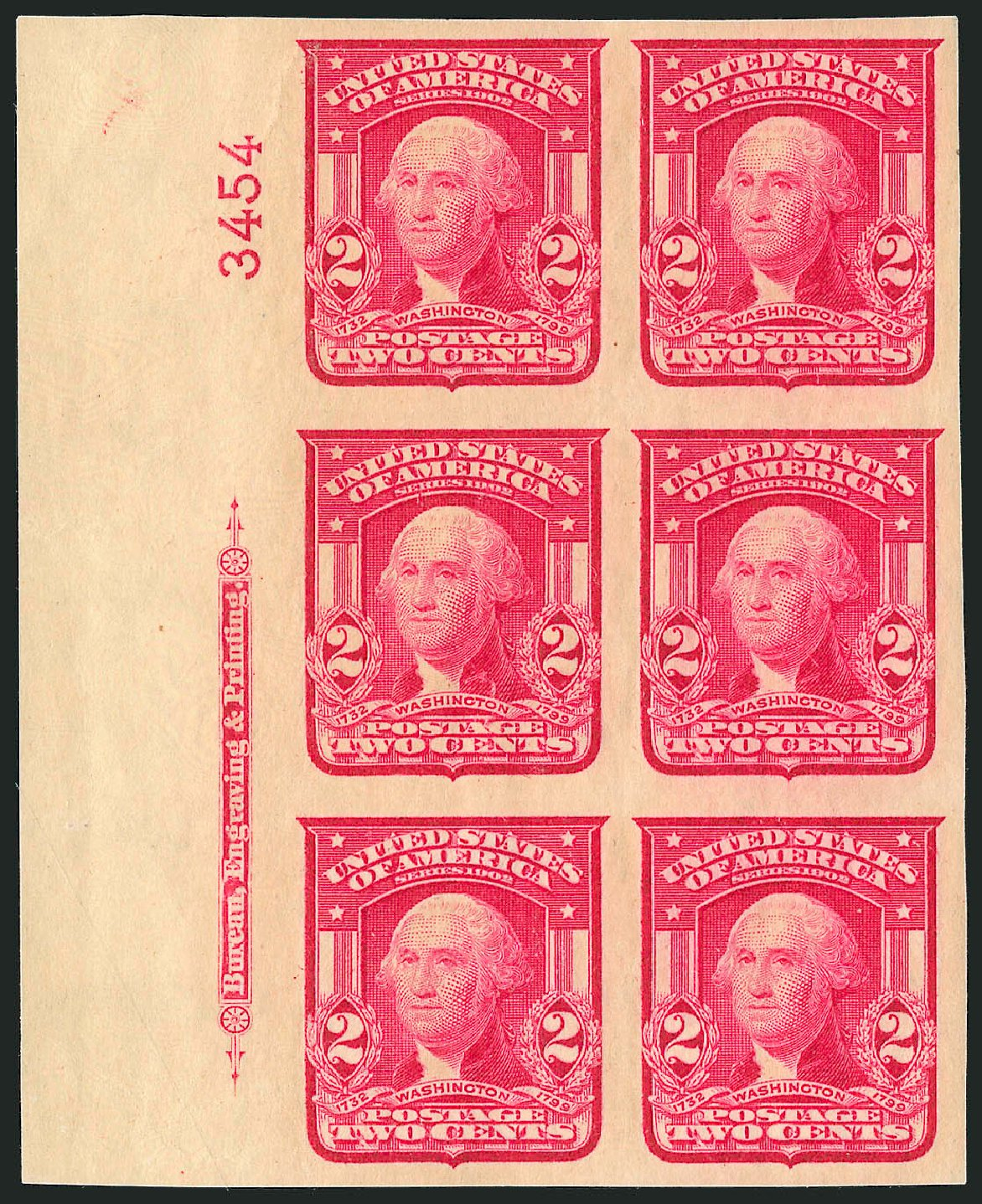 Value of US Stamp Scott Catalogue 320 - 2c 1906 Washington Imperf. Robert Siegel Auction Galleries, Sep 2014, Sale 1078, Lot 456