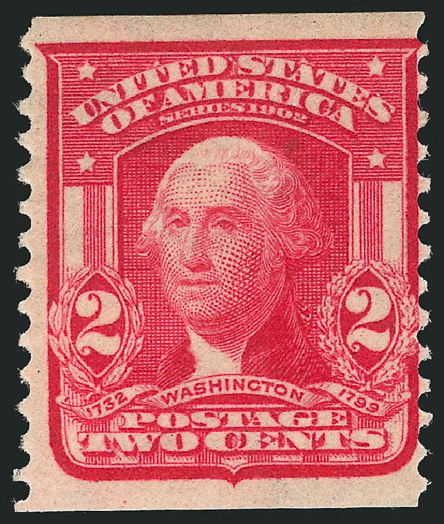 Costs of US Stamp Scott Catalog 322: 1908 2c Washington Coil. Robert Siegel Auction Galleries, Dec 2014, Sale 1090, Lot 1437