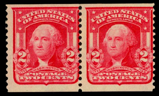 Price of US Stamp Scott Catalogue # 322 - 2c 1908 Washington Coil. Daniel Kelleher Auctions, Sep 2014, Sale 655, Lot 398