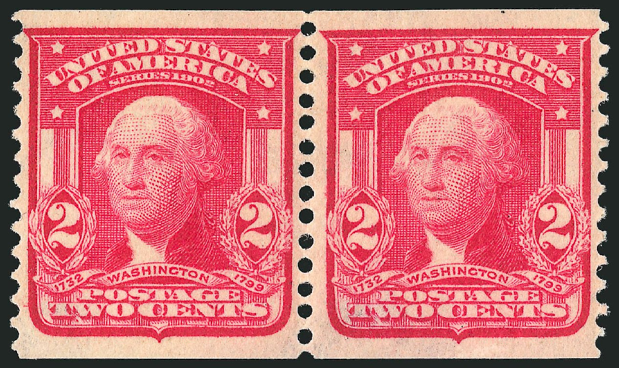 US Stamp Price Scott 322: 1908 2c Washington Coil. Robert Siegel Auction Galleries, Dec 2013, Sale 1062, Lot 498