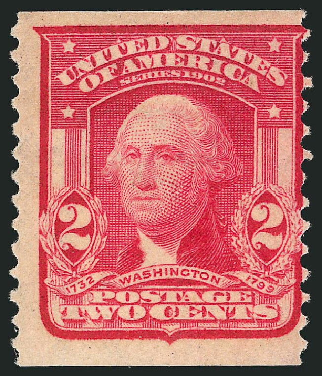 US Stamps Values Scott Catalog #322 - 2c 1908 Washington Coil. Robert Siegel Auction Galleries, Feb 2015, Sale 1093, Lot 58
