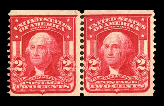 US Stamp Price Scott Catalog #322 - 1908 2c Washington Coil. Cherrystone Auctions, Jul 2015, Sale 201507, Lot 2109