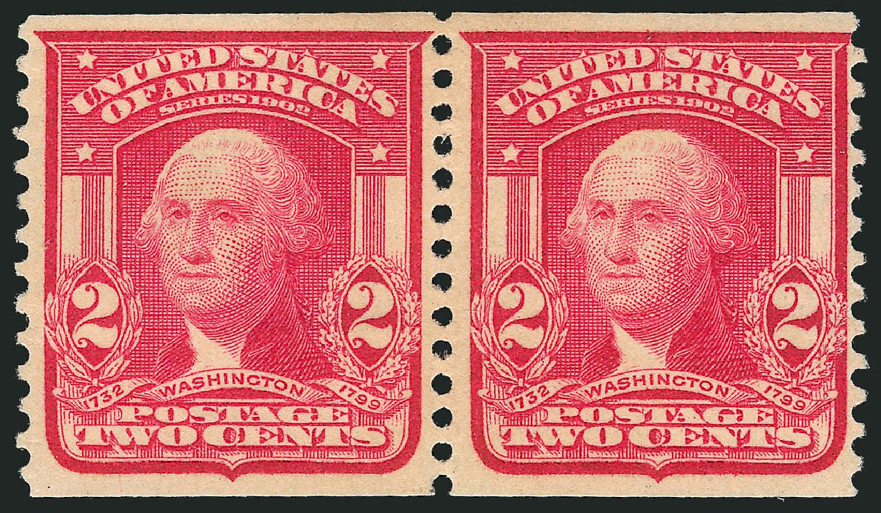 Costs of US Stamp Scott Catalogue # 322 - 1908 2c Washington Coil. Robert Siegel Auction Galleries, Feb 2015, Sale 1093, Lot 59