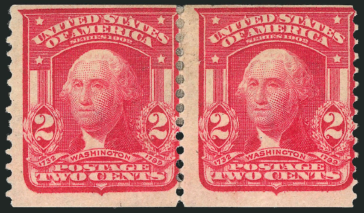 Price of US Stamps Scott Cat. 322 - 2c 1908 Washington Coil. Robert Siegel Auction Galleries, Feb 2015, Sale 1093, Lot 60