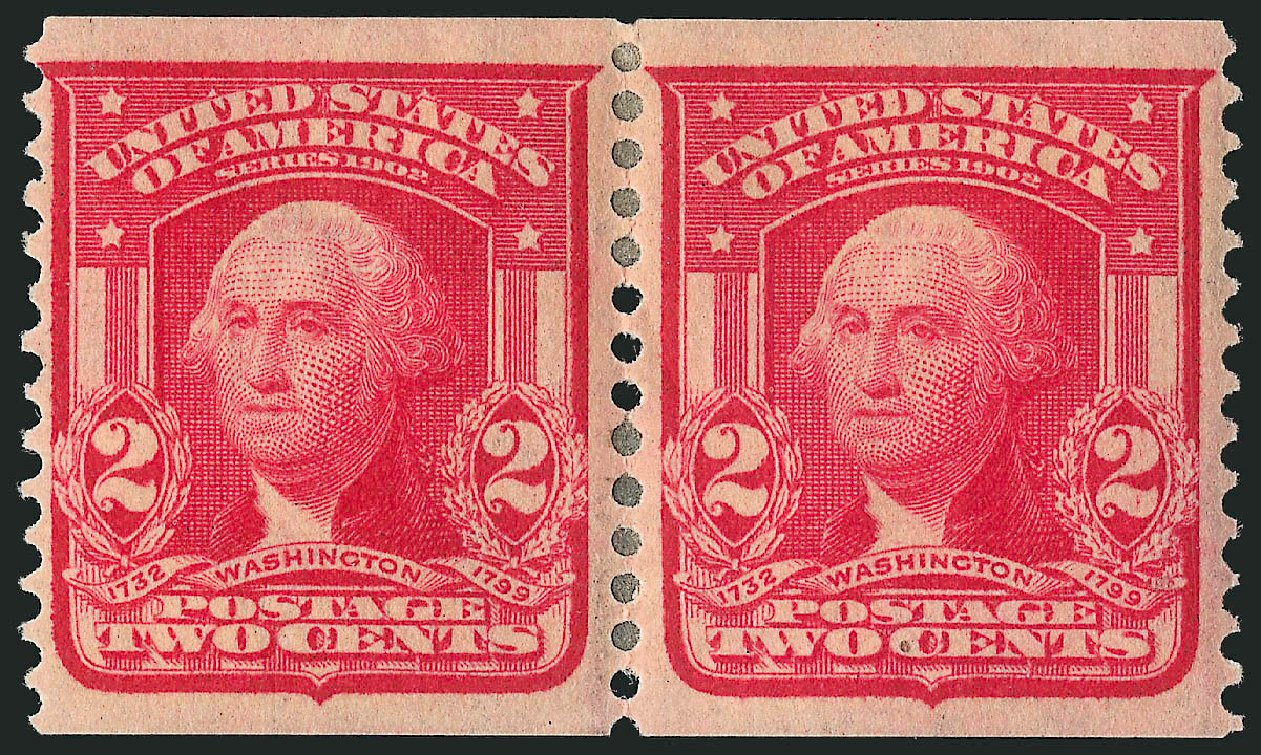 US Stamp Values Scott Catalogue # 322: 1908 2c Washington Coil. Robert Siegel Auction Galleries, Apr 2015, Sale 1096, Lot 560