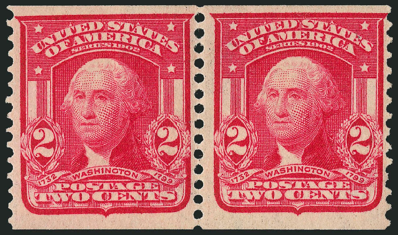 Price of US Stamp Scott Cat. 322 - 2c 1908 Washington Coil. Robert Siegel Auction Galleries, Jun 2015, Sale 1106, Lot 3151