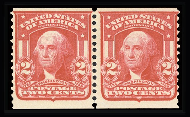 Costs of US Stamp Scott Catalog 322 - 1908 2c Washington Coil. Cherrystone Auctions, Jul 2015, Sale 201507, Lot 72