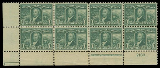 Price of US Stamps Scott Catalog # 323: 1904 1c Louisiana Purchase Exposition. Daniel Kelleher Auctions, Oct 2014, Sale 660, Lot 2327