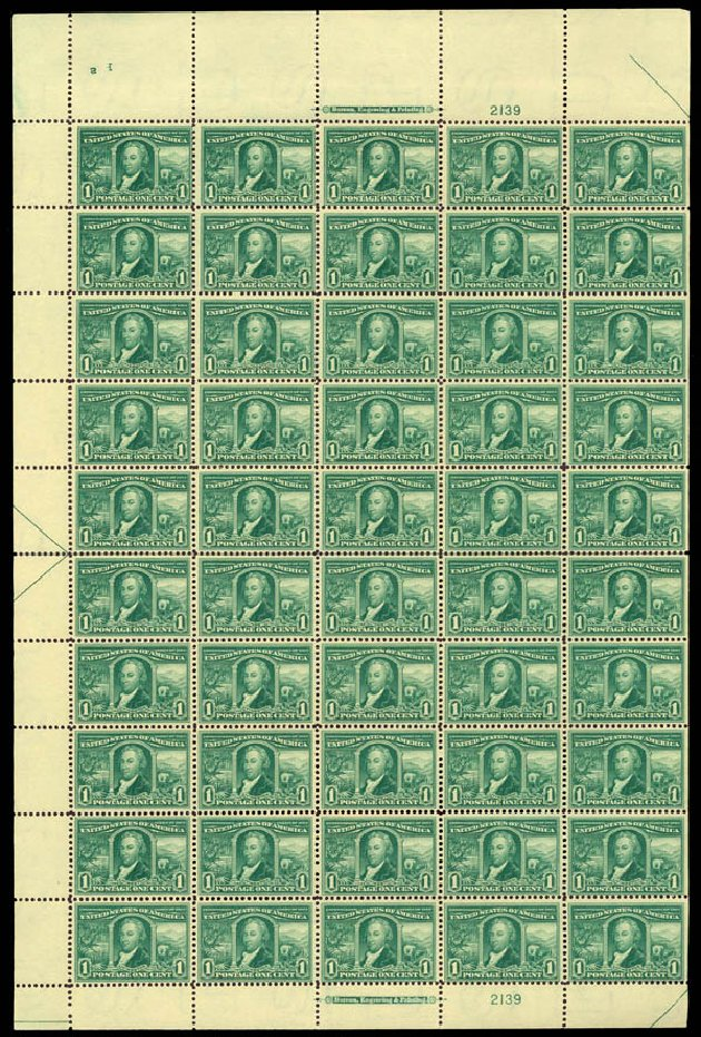 Value of US Stamps Scott Catalogue #323 - 1c 1904 Louisiana Purchase Exposition. Daniel Kelleher Auctions, Jan 2015, Sale 663, Lot 1657