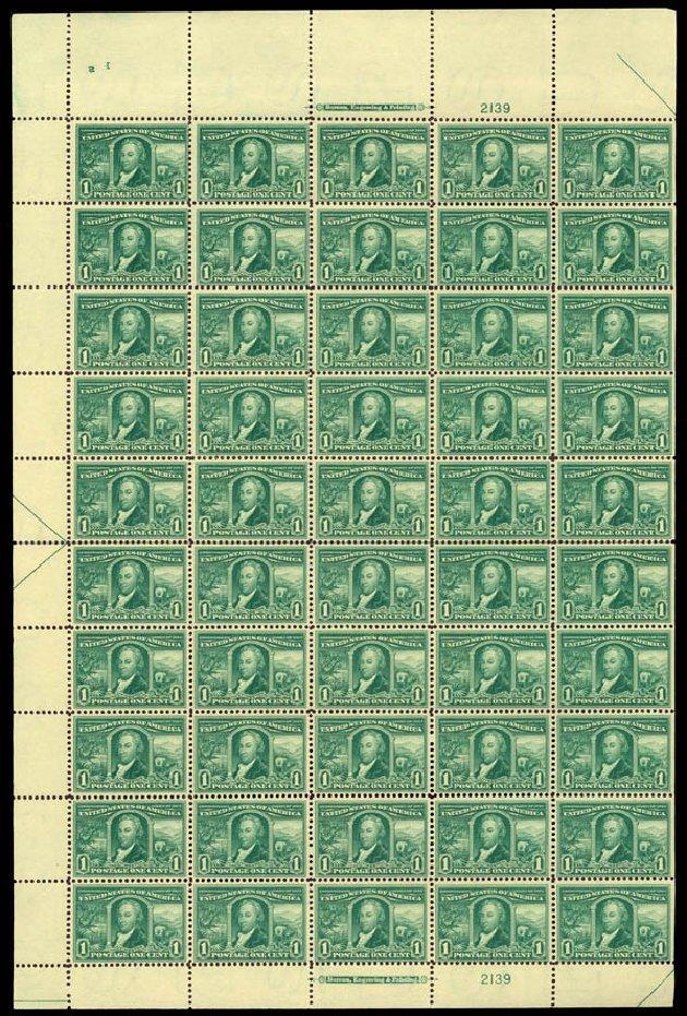Value of US Stamps Scott Catalogue #323 - 1c 1904 Louisiana Purchase Exposition. Daniel Kelleher Auctions, Jan 2015, Sale 663, Lot 1657