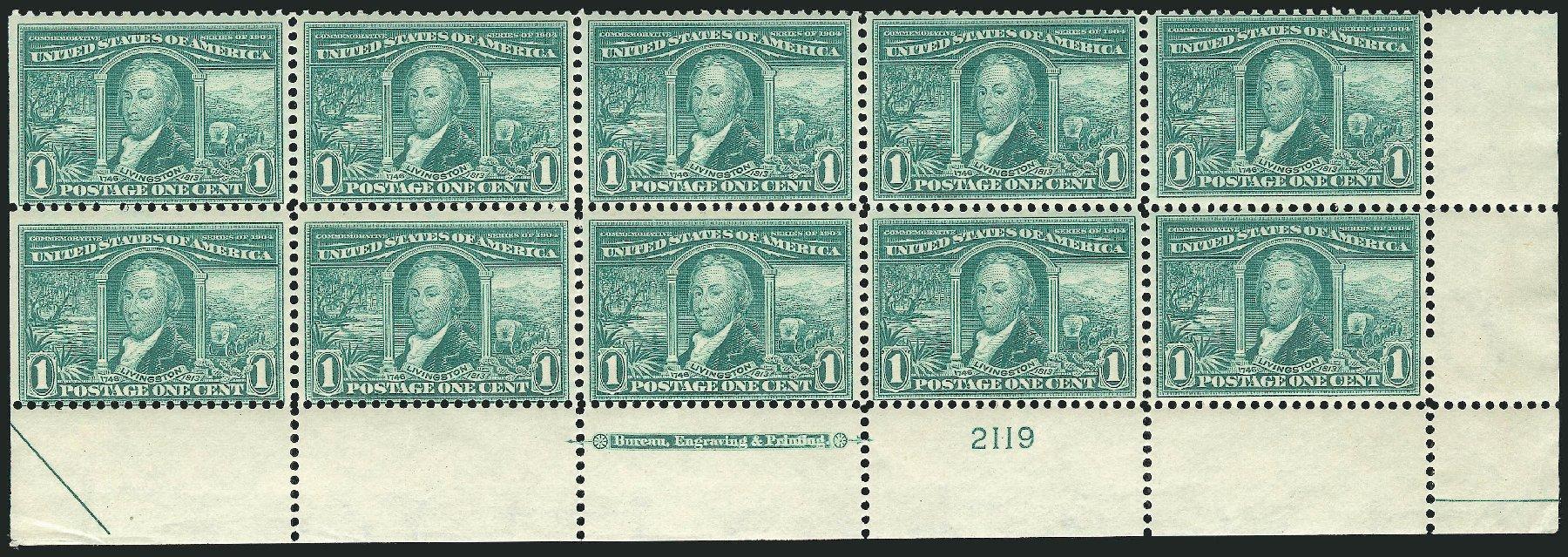 Cost of US Stamps Scott Cat. # 323 - 1c 1904 Louisiana Purchase Exposition. Robert Siegel Auction Galleries, Jul 2014, Sale 1077, Lot 228
