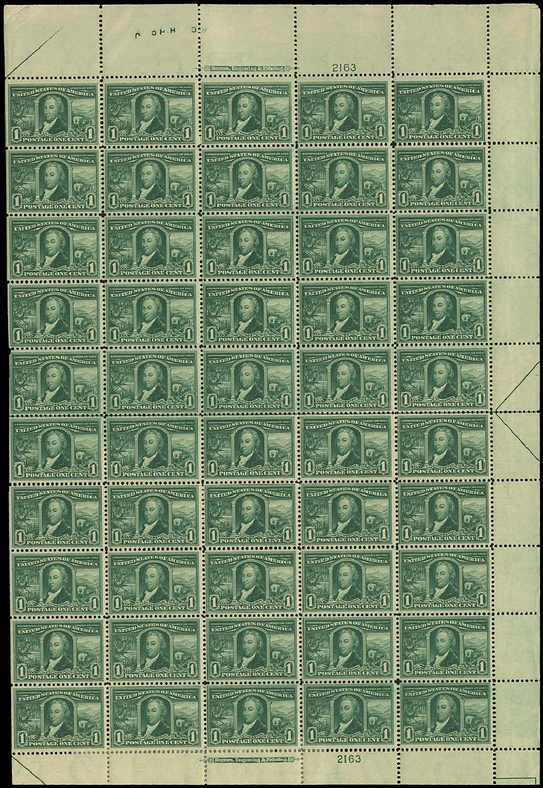 Costs of US Stamp Scott Catalog 323: 1904 1c Louisiana Purchase Exposition. Regency-Superior, Aug 2015, Sale 112, Lot 1480
