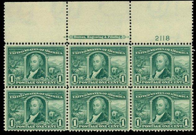 Costs of US Stamp Scott Catalogue #323: 1c 1904 Louisiana Purchase Exposition. Daniel Kelleher Auctions, Mar 2014, Sale 648, Lot 2224