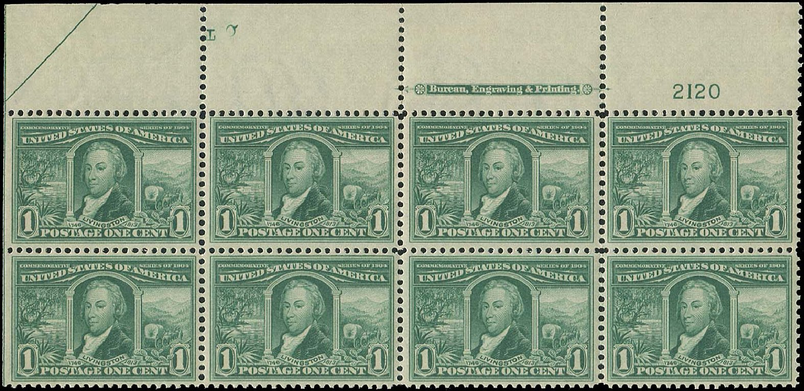 US Stamp Values Scott #323: 1904 1c Louisiana Purchase Exposition. Regency-Superior, Aug 2015, Sale 112, Lot 1314