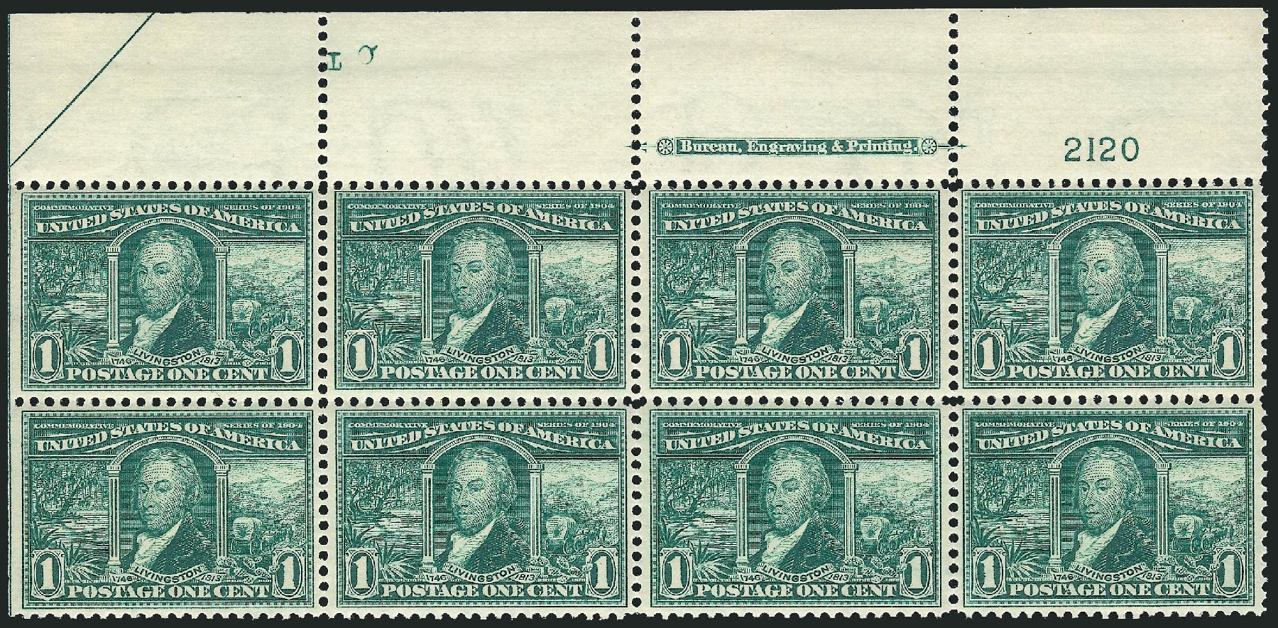 Values of US Stamp Scott Catalogue 323 - 1c 1904 Louisiana Purchase Exposition. Robert Siegel Auction Galleries, Feb 2015, Sale 1093, Lot 62