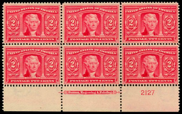 Costs of US Stamps Scott # 324 - 2c 1904 Louisiana Purchase Exposition. Daniel Kelleher Auctions, Jan 2015, Sale 663, Lot 1658