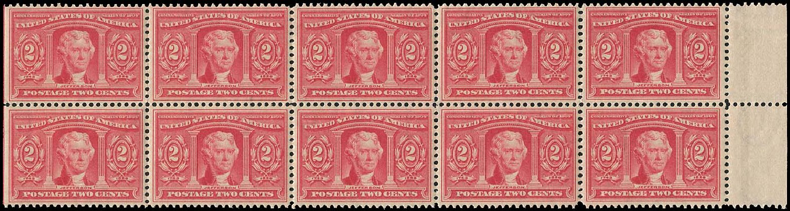 US Stamps Prices Scott Catalog # 324 - 1904 2c Louisiana Purchase Exposition. Regency-Superior, Aug 2015, Sale 112, Lot 700
