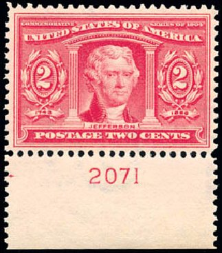 Values of US Stamps Scott Catalog #324 - 2c 1904 Louisiana Purchase Exposition. Schuyler J. Rumsey Philatelic Auctions, Apr 2015, Sale 60, Lot 2785