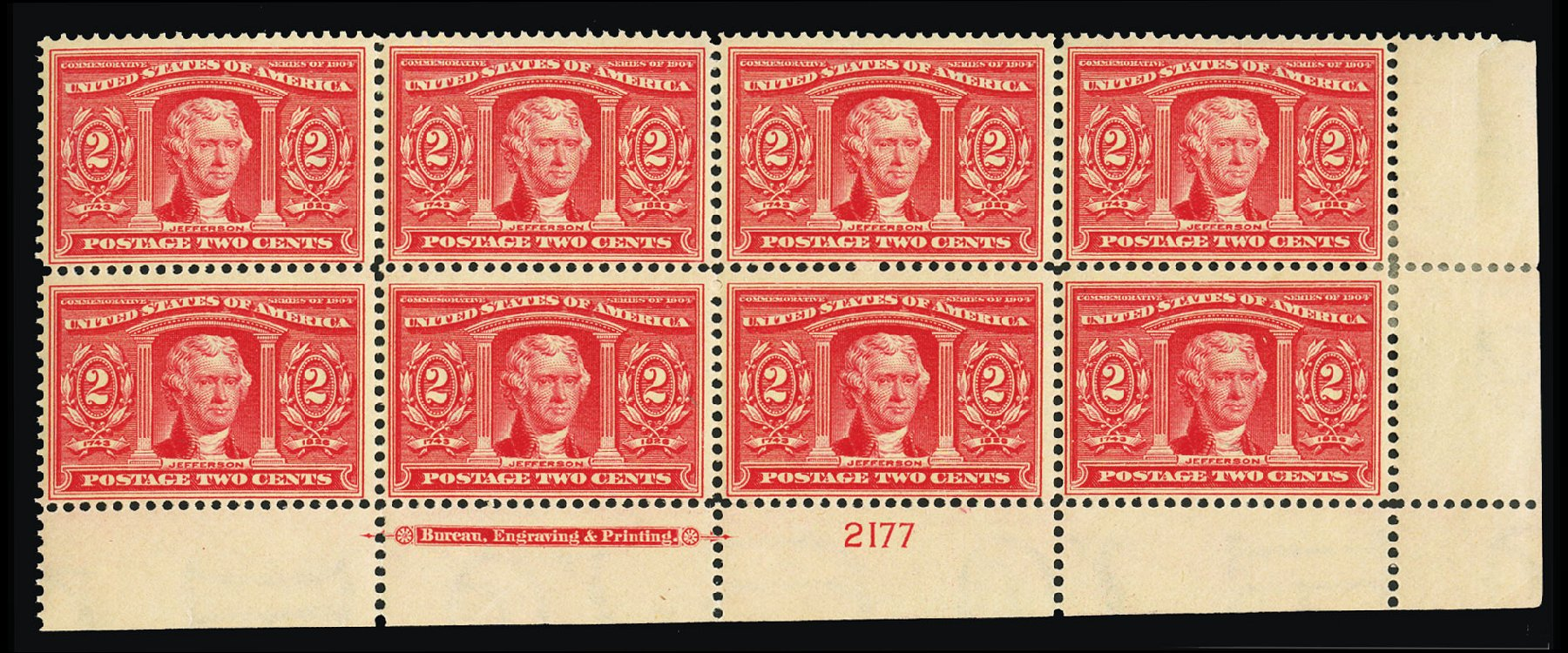 US Stamps Values Scott Catalog # 324: 1904 2c Louisiana Purchase Exposition. Cherrystone Auctions, Jul 2015, Sale 201507, Lot 2112