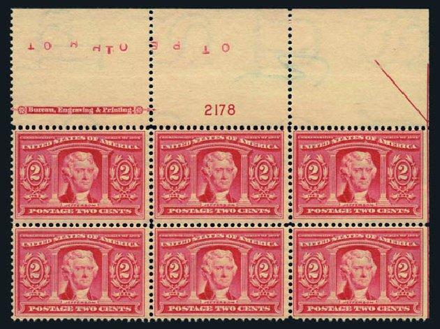 Value of US Stamp Scott # 324 - 2c 1904 Louisiana Purchase Exposition. Harmer-Schau Auction Galleries, Aug 2014, Sale 102, Lot 1972