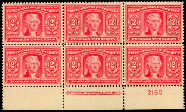 US Stamp Prices Scott Catalog #324: 1904 2c Louisiana Purchase Exposition. Daniel Kelleher Auctions, Sep 2014, Sale 655, Lot 632