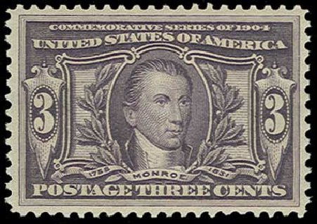 US Stamps Values Scott Catalogue #325 - 3c 1904 Louisiana Purchase Exposition. H.R. Harmer, Jun 2015, Sale 3007, Lot 3306