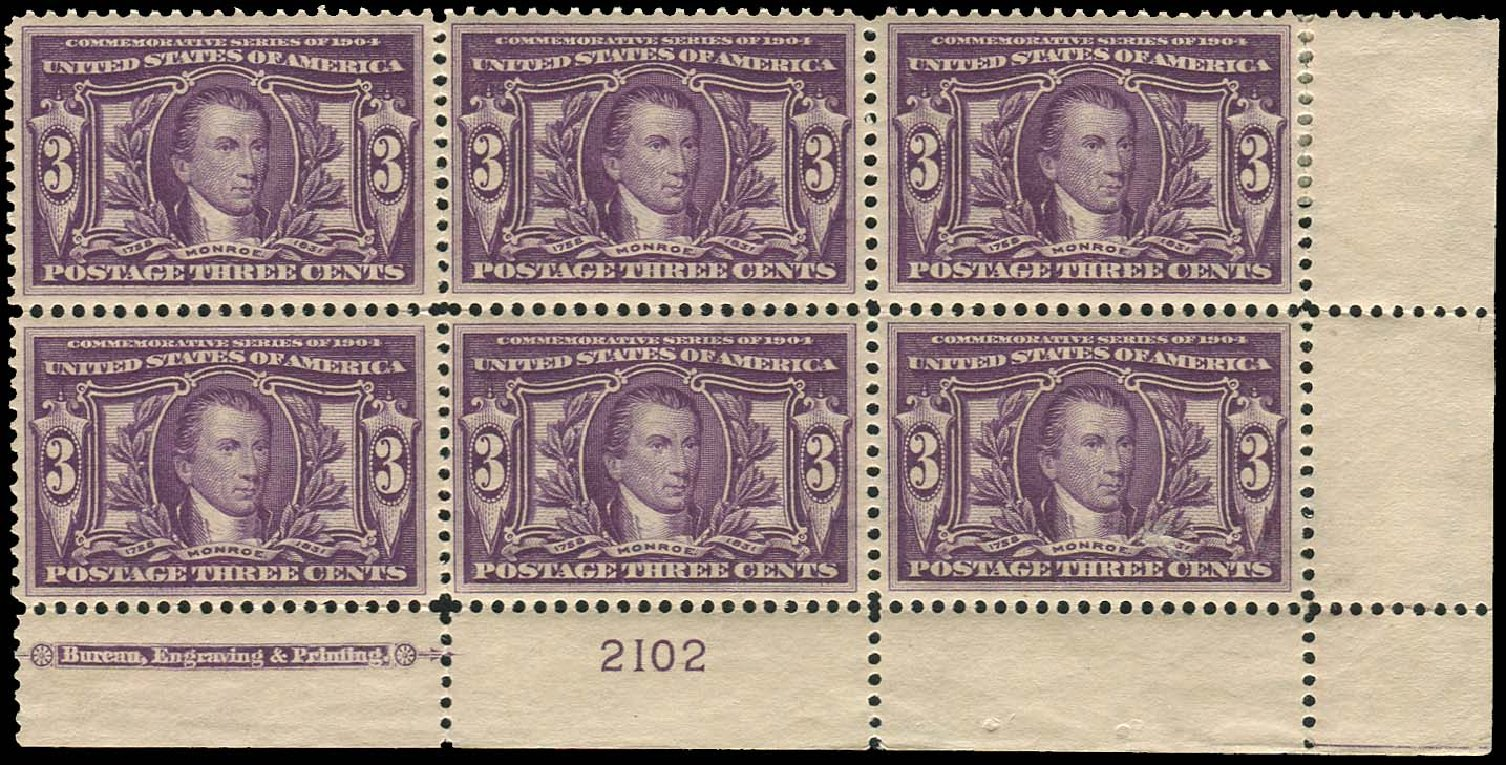 US Stamp Price Scott # 325: 1904 3c Louisiana Purchase Exposition. Regency-Superior, Aug 2015, Sale 112, Lot 1316