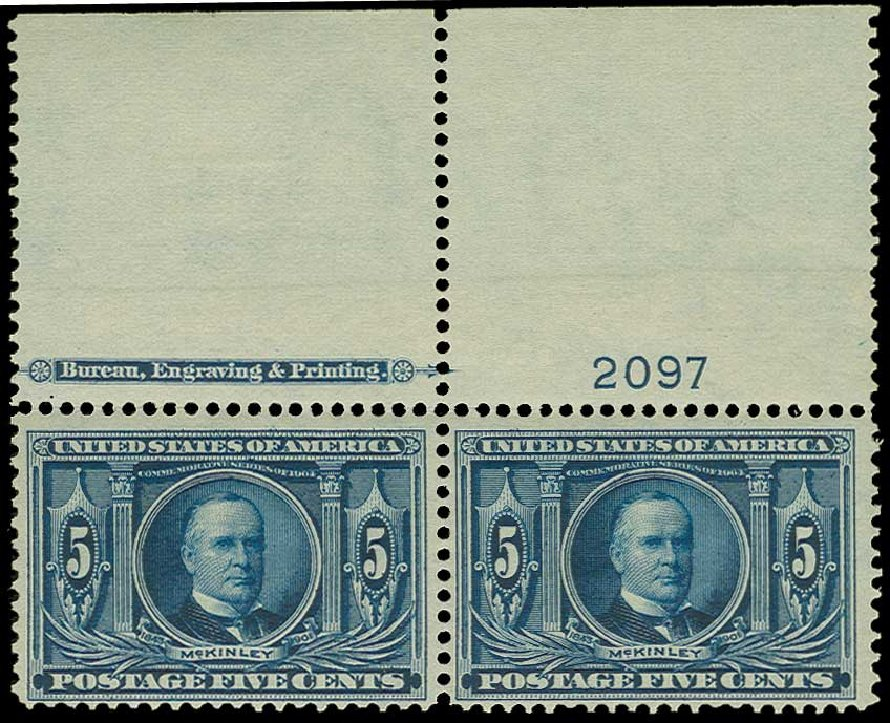 Value of US Stamps Scott Catalog 326 - 5c 1904 Louisiana Purchase Exposition. H.R. Harmer, Jun 2015, Sale 3007, Lot 3307