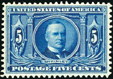 US Stamp Values Scott #326 - 1904 5c Louisiana Purchase Exposition. Schuyler J. Rumsey Philatelic Auctions, Apr 2015, Sale 60, Lot 2328