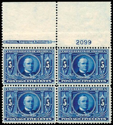 US Stamp Value Scott Catalogue # 326 - 1904 5c Louisiana Purchase Exposition. Schuyler J. Rumsey Philatelic Auctions, Apr 2015, Sale 60, Lot 2908