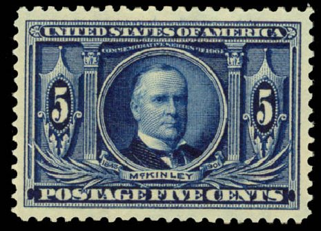 Cost of US Stamps Scott Catalog # 326 - 1904 5c Louisiana Purchase Exposition. Daniel Kelleher Auctions, Oct 2014, Sale 660, Lot 2329