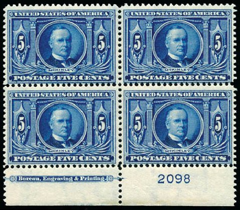 US Stamps Price Scott Catalogue #326: 5c 1904 Louisiana Purchase Exposition. Schuyler J. Rumsey Philatelic Auctions, Apr 2015, Sale 60, Lot 2909