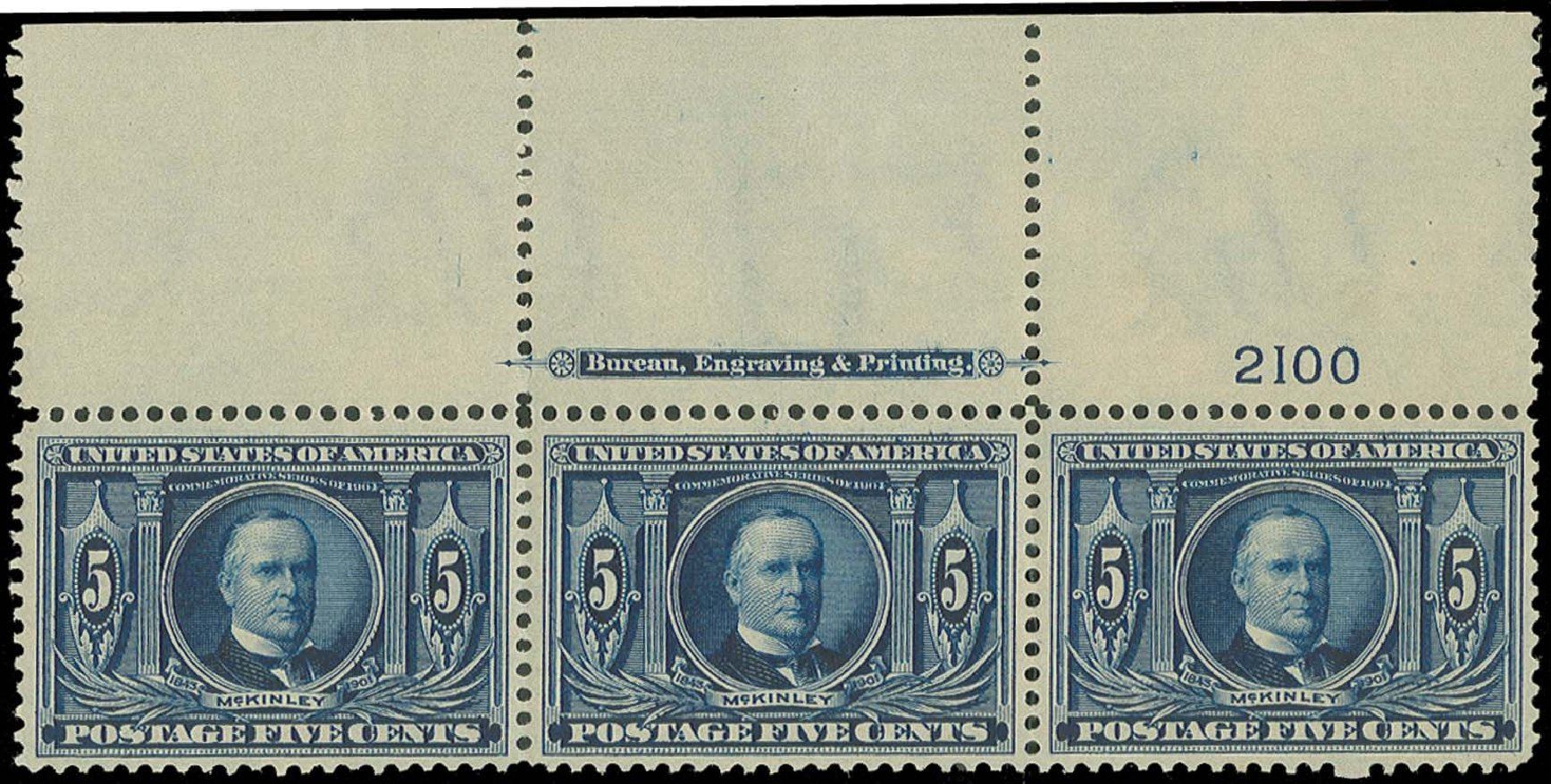 US Stamp Values Scott Catalogue # 326: 1904 5c Louisiana Purchase Exposition. H.R. Harmer, Oct 2014, Sale 3006, Lot 1321