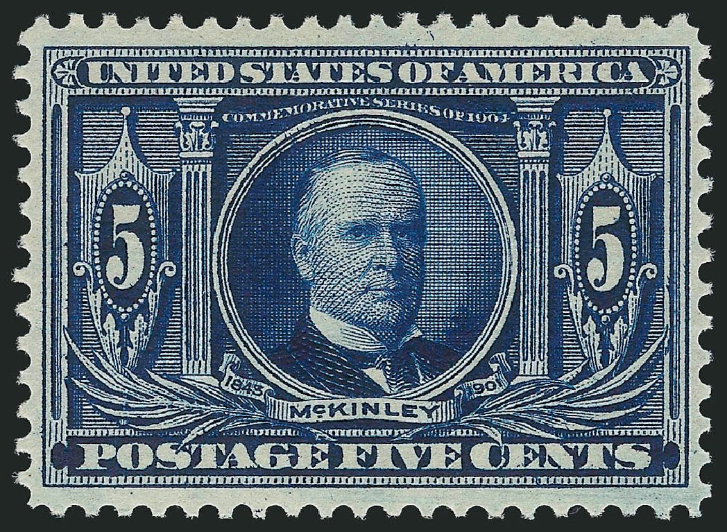US Stamp Price Scott Catalog #326: 1904 5c Louisiana Purchase Exposition. Robert Siegel Auction Galleries, Dec 2014, Sale 1090, Lot 1441