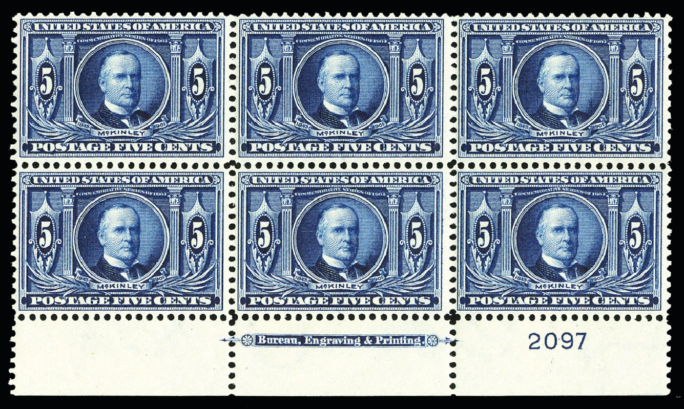 US Stamps Values Scott Cat. # 326 - 1904 5c Louisiana Purchase Exposition. Cherrystone Auctions, Jul 2015, Sale 201507, Lot 2114