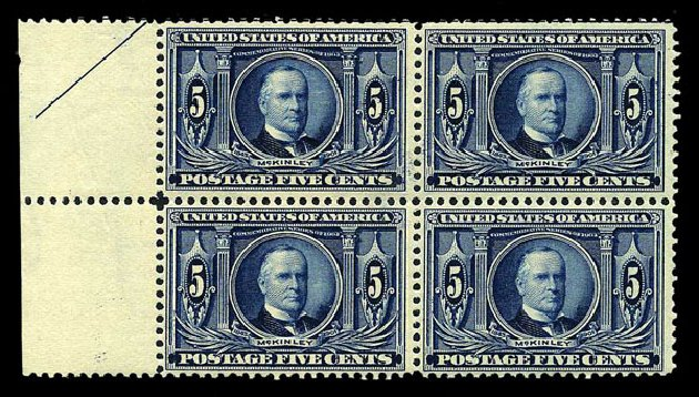 Prices of US Stamps Scott Cat. # 326: 5c 1904 Louisiana Purchase Exposition. Harmer-Schau Auction Galleries, Aug 2015, Sale 106, Lot 1752